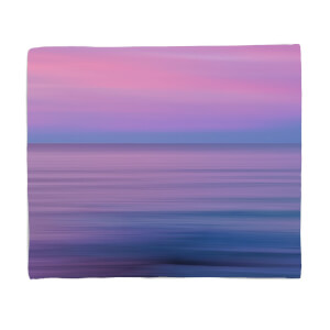 Sunset Purple Tones Fleece Blanket