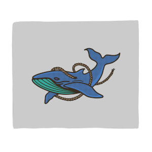 Sea Blue Whale Fleece Blanket