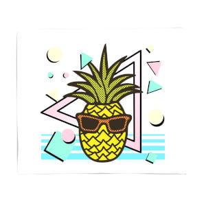 Summer Pineapple Fleece Blanket