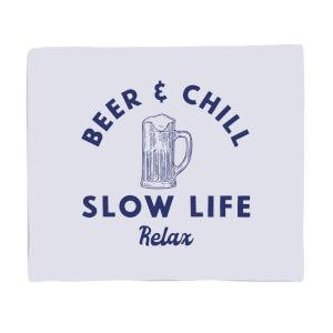 Beer And Chill Fleece Blanket