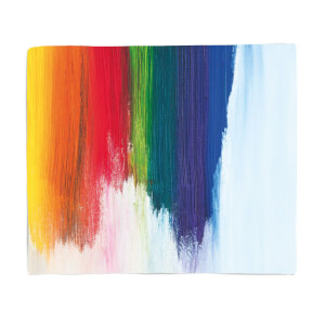 Rainbow Smudge Fleece Blanket