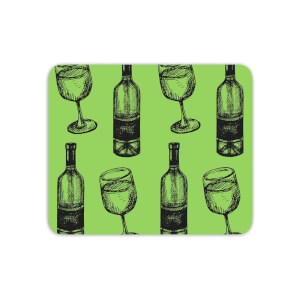 White Wine And Bottle Mouse Mat