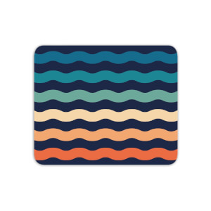 Rainbow Wave Mouse Mat