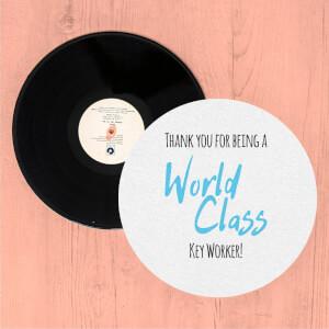 Thank You For Being A World Class Key Worker! Slip Mat