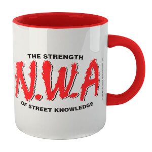 The Strength Of Street Knowledge Mug - Wit/Rood