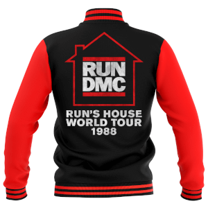 Run's House World Tour 1988 Unisex Varsity Jacket - Black / Red