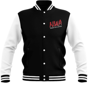 NWA Straight Outta Compton Men's Varsity Jacket - Black / White