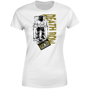 Death Row Records Gold Tape Women's T-Shirt - White