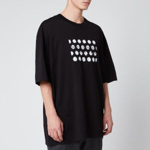 Maison Margiela Men's Oversized Punched Holes T-Shirt - Black