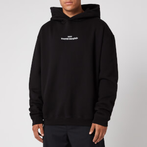 Maison Margiela Men's Embroidered Logo Hoodie - Black