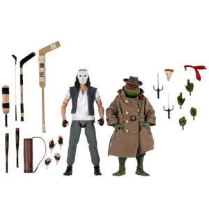 NECA Teenage Mutant Ninja Turtles Casey Jones and Raphael In Disguise 7 Inch Scale Action Figure 2 Pack