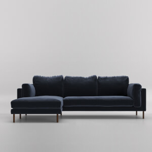 Swoon Munich Velvet Corner Sofa - Left Hand Side