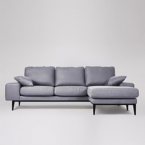 Swoon Tulum Smart Wool Corner Sofa - Right Hand Side