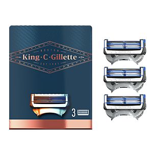 King C. Gillette Neck Razor Blades (3 Pack)