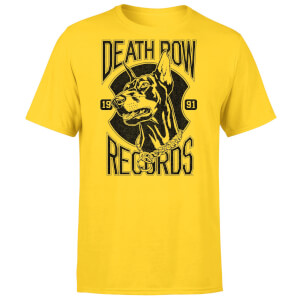 Death Row Records Doberman Men's T-Shirt - Yellow