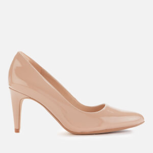 Clarks Women's Laina Rae 2 Patent Leather Court Shoes - Praline