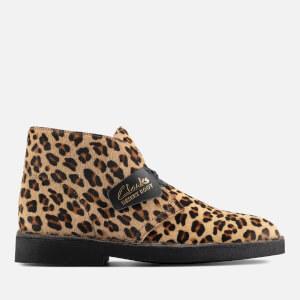Clarks Women's Suede 2 Desert Boots - Leopard Print