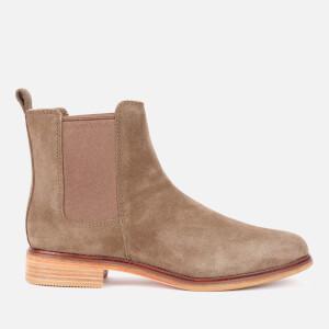 Clarks Women's Clarkdale Arlo Suede Chelsea Boots - Dark Olive