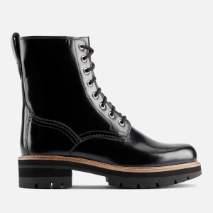 Clarks Women's Orianna Hi Leather Lace Up Boots - Black