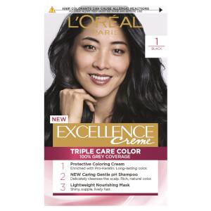 L'Oréal Paris Excellence Creme Permanent Hair Colour - Black 1
