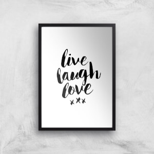 The Motivated Type Live Laugh Love Giclee Art Print