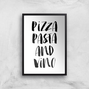 The Motivated Type Pizza Pasta And Vino Giclee Art Print