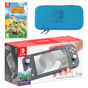Nintendo Switch Lite (Grey) Animal Crossing: New Horizons Pack