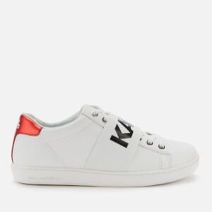 Karl Lagerfeld Women's Kupsole II Karl Band Leather Trainers - White