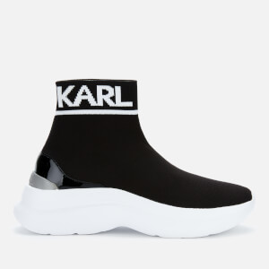 Karl Lagerfeld Women's Skyline Knit Hi-Top Trainers - Black