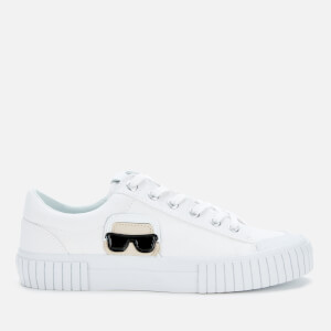 Karl Lagerfeld Women's Kampus II Canvas Low Top Trainers - White