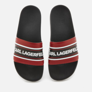 Karl Lagerfeld Men's Kondo Contrast Slide Sandals - Red