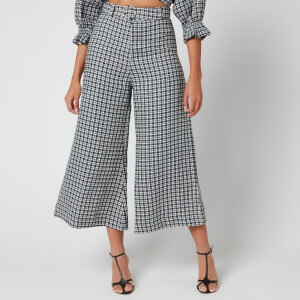 Faithfull the Brand Women's Lissandra Wide Leg Pants - Emelinah Check