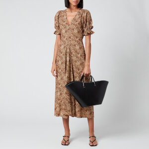 Faithfull the Brand Women's Maggie Midi Dress - Charlie Leopard