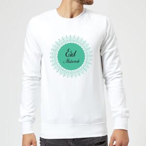 Eid Mubarak Earth Tone Wreath Sweatshirt - White