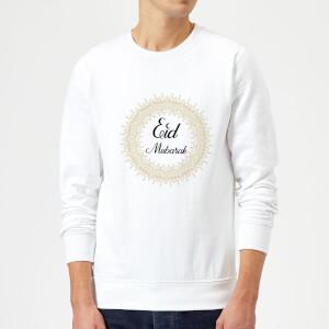 Eid Mubarak Golden Mandala Sweatshirt - White