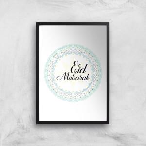 Eid Mubarak Light Tone Mandala Giclee Art Print