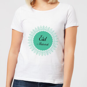 Eid Mubarak Earth Tone Wreath Women's T-Shirt - White
