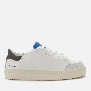 Axel Arigato Kids' Clean 90 Triple Leather Cupsole Trainers - White/Black/Cobalt