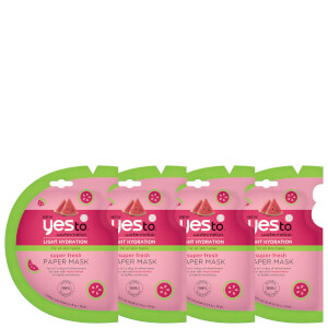 yes to Watermelon Super Fresh Paper Mask - 4 Pack Bundle