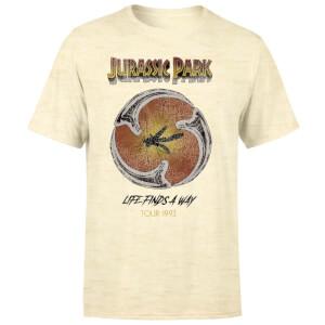 T-shirt Jurassic Park Life Finds A Way Tour - Blanc délavé - Unisexe