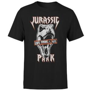 Camiseta Jurassic Park Rex Punk - Hombre - Negro