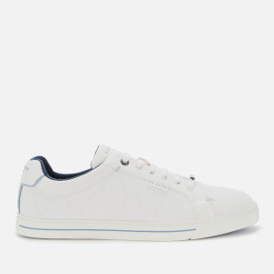 Ted Baker Men's Ashtol Quilted Low Top Trainers - White