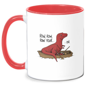 Row Row Row Your Boat Mug - White/Red