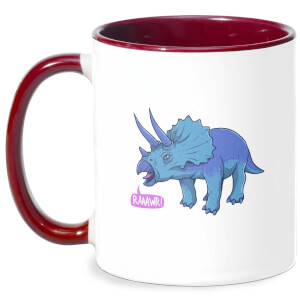 Rawr It Means I Love You In Dinosaur Mug - White/Burgundy