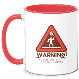 Warning Dad Dancing Mug - White/Red