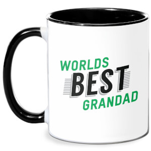 Worlds Best Grandad Mug - White/Black