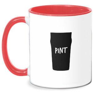 Full Pint Mug - White/Red