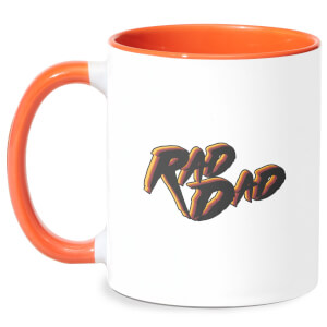 Rad Dad Mug - White/Orange