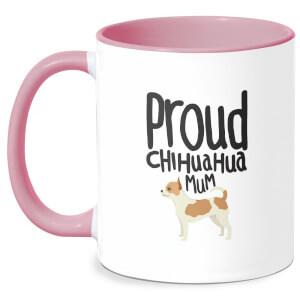 Proud Chuiahua Mum Mug - White/Pink