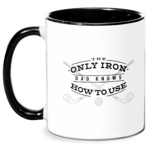 Dad's Only Iron Mug - White/Black
